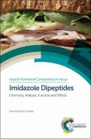 Imidazole dipeptides [electronic resource] : chemistry, analysis, function and effects