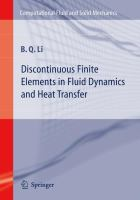 Discontinuous finite elements in fluid dynamics and heat transfer [electronic resource]