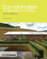 Eco-minimalism : the antidote to eco-bling