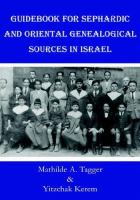 Guidebook for Sephardic and Oriental Genealogical Sources in Israel