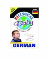 BILINGUAL BABY - GERMAN (DVD)
