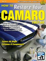 How to restore your Camaro, 1967-1969