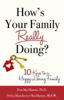 book cover - How's your family really doing? : 10 keys to a happy loving family