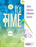 It's TIME : Themes and Imperatives for Mathematics Education
