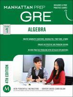 Algebra : GRE strategy guide.