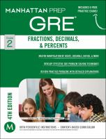 Fractions, decimals, & percents : GRE strategy guide.