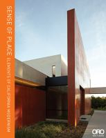 Sense of place : elements of California modernism