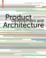 Produktentwicklung Architektur. English