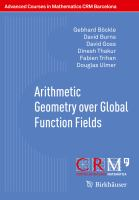 Arithmetic Geometry over Global Function Fields [electronic resource]
