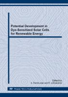 Potential development in dye-sensitized solar cells for renewable energy [electronic resource]