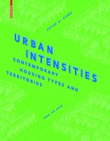 Urban intensities : contemporary building types and territories