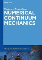 Numerical continuum mechanics [electronic resource]