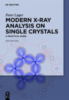Modern X-ray analysis on single crystals [electronic resource] : a practical guide