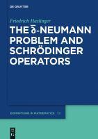 The [D-bar] Neumann problem and Schrödinger operators [electronic resource]