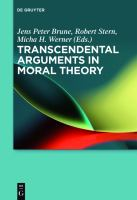 Transcendental arguments in moral theory /