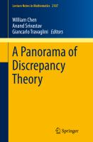 A Panorama of Discrepancy Theory [electronic resource]
