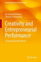 Creativity and Entrepreneurial Performance [electronic resource] : A General Scientific Theory
