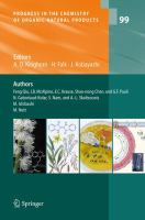Progress in the Chemistry of Organic Natural Products 99 [electronic resource]