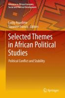 Selected Themes in African Political Studies [electronic resource] : Political Conflict and Stability