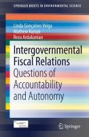 Intergovernmental Fiscal Relations [electronic resource] : Questions of Accountability and Autonomy
