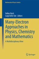 Many-electron approaches in physics, chemistry and mathematics [electronic resource] : a multidisciplinary view