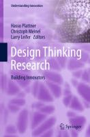 Design Thinking Research [electronic resource] : Building Innovators