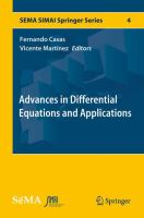 Advances in Differential Equations and Applications [electronic resource]