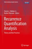 Recurrence Quantification Analysis [electronic resource] : Theory and Best Practices