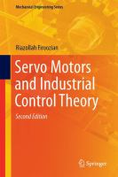 Servo Motors and Industrial Control Theory [electronic resource]