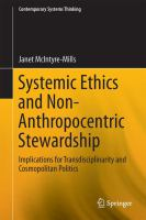 Systemic Ethics and Non-Anthropocentric Stewardship [electronic resource] : Implications for Transdisciplinarity and Cosmopolitan Politics