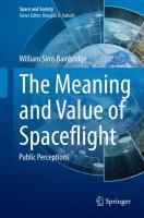 The Meaning and Value of Spaceflight [electronic resource] : Public Perceptions