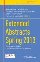 Extended Abstracts Spring 2013 [electronic resource] : Complex Systems; Control of Infectious Diseases