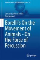 Borelli's On the Movement of Animals - On the Force of Percussion [electronic resource]