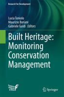 Built Heritage: Monitoring Conservation Management [electronic resource]