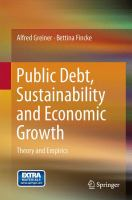 Public Debt, Sustainability and Economic Growth [electronic resource] : Theory and Empirics