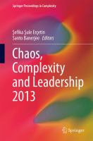 Chaos, Complexity and Leadership 2013 [electronic resource]