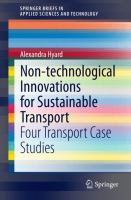 Non-technological Innovations for Sustainable Transport [electronic resource] : Four Transport Case Studies