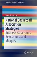 National Basketball Association Strategies [electronic resource] : Business Expansions, Relocations, and Mergers