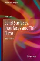 Solid Surfaces, Interfaces and Thin Films [electronic resource]