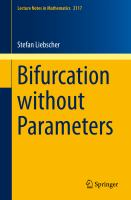 Bifurcation without Parameters [electronic resource]