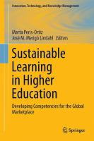Sustainable Learning in Higher Education [electronic resource] : Developing Competencies for the Global Marketplace
