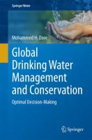 Global Drinking Water Management and Conservation [electronic resource] : Optimal Decision-Making