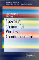 Spectrum Sharing for Wireless Communications [electronic resource]