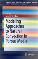 Modeling Approaches to Natural Convection in Porous Media [electronic resource]