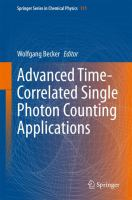 Advanced Time-Correlated Single Photon Counting Applications [electronic resource]