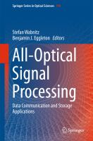 All-Optical Signal Processing [electronic resource] : Data Communication and Storage Applications