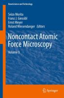 Noncontact atomic force microscopy. Volume 3 [electronic resource]