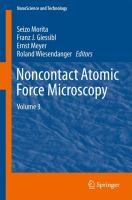 Noncontact Atomic Force Microscopy [electronic resource] : Volume 3