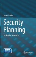 Security Planning [electronic resource] : An Applied Approach
