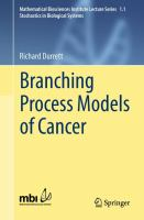 Branching Process Models of Cancer [electronic resource]
